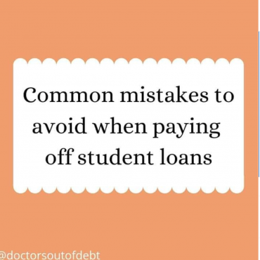 Common mistakes to avoid when paying off student loans